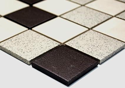 Rete mosaico piastrelle a mosaico quadrato mix non vetriata ceramica non  vetrata cucina mosaico da parete bagno WC