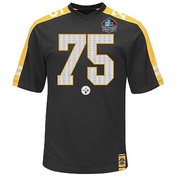 ff787102d Joe Greene Pittsburgh Steelers Hall of Fame Hashmark Black Jersey T-shirt  Small