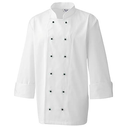 Premier- 12 broches de bata de chef cocinero  Amazon.es  Ropa y accesorios 5358116ba4c