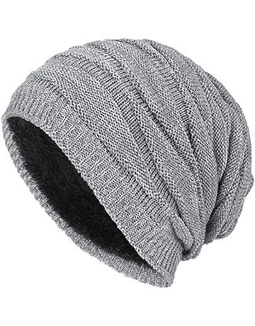 DD UP Winter Beanie Hat Men Warm Knit Long Slouch Skull Cap Thermal with  Soft Fleece e21de478a65