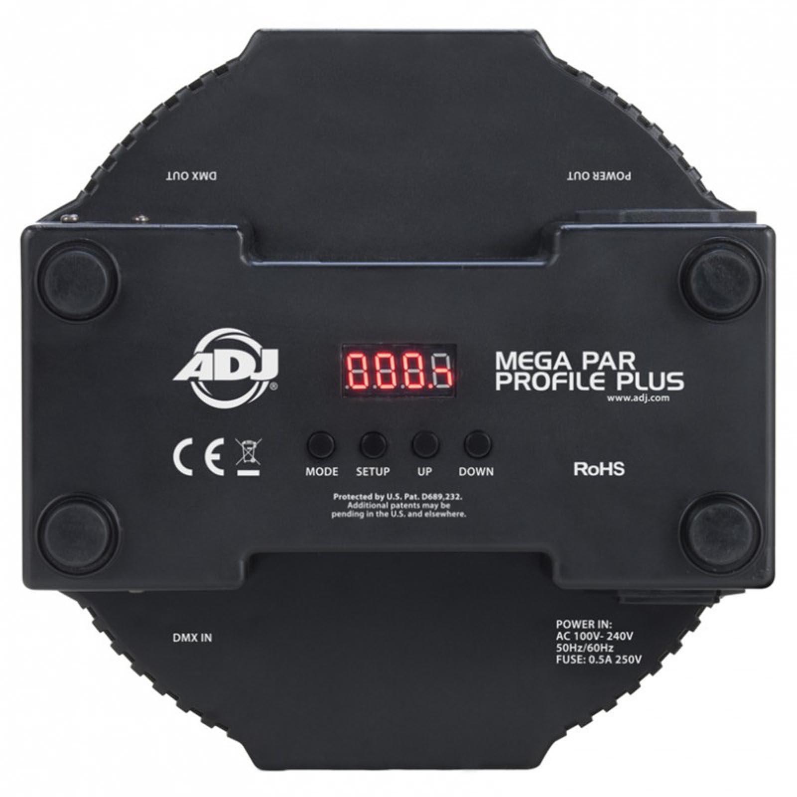 American DJ ADJ Mega Par Profile Plus LED RGB+UV Slim Par Can Wash Effect Light (6 Pack) by ADJ (Image #8)