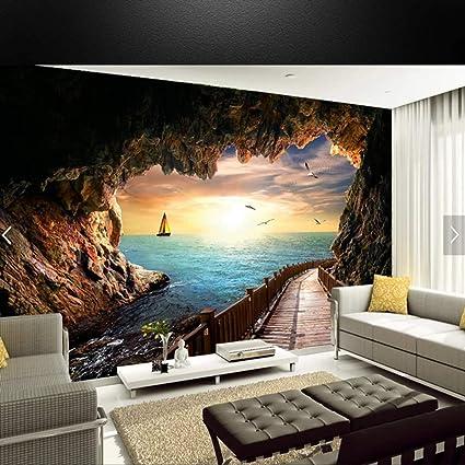 Yishuqiang Carta Da Parati Murale Sfondo Tv Decorazione ...
