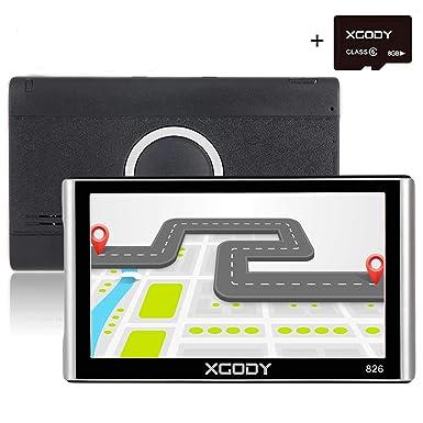 XGODY 16 GB (8GB ROM + 8 GB TF tarjeta) 826bt de coche sistema de navegación GPS ...