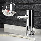 Auralum IR Mitigeur automatique Capteur infrarouge robinet pour l'eau froid et chaud sans toucher Mitigeur de lavabo salle de bain,type A