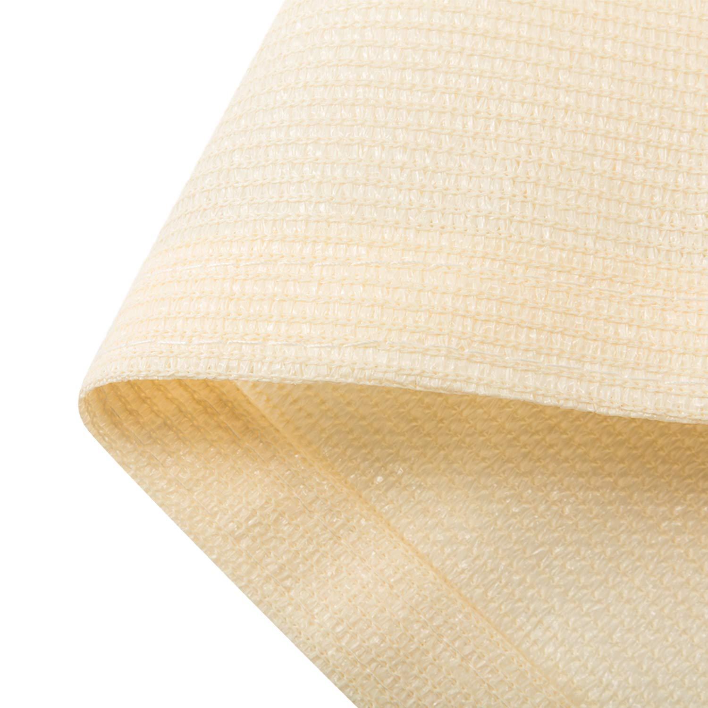 Blue DOEWORKS 10x10x10 Triangle UV Block Sun Shade Sail Canopy Shade Cloth for Patio Outdoor Lawn Garden