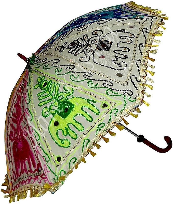 Hare Krishna Paraguas de Mujer Plegable Plegable para Playa Sombrilla de protección para Playa 61 x 71 cm: Amazon.es: Hogar