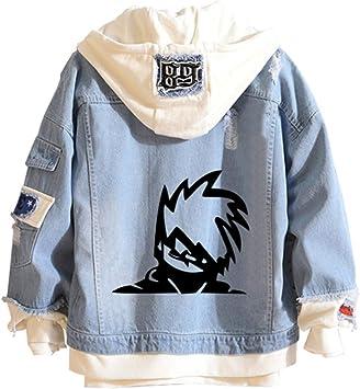 ユニセックスNARUTOデニムジャケットパーカー日本のアニメプルオーバースウェットシャツ衣装服プリントファッションスポーツファッションカジュアルプルオーバージャケットスウェットコート