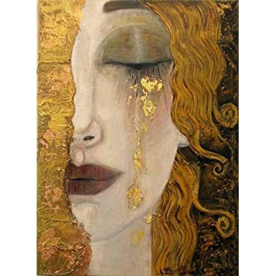 1000 Pieces Wooden Jigsaw Puzzle for Adult & Kids –Golden tears by Gustav Klimt: Toys & Games