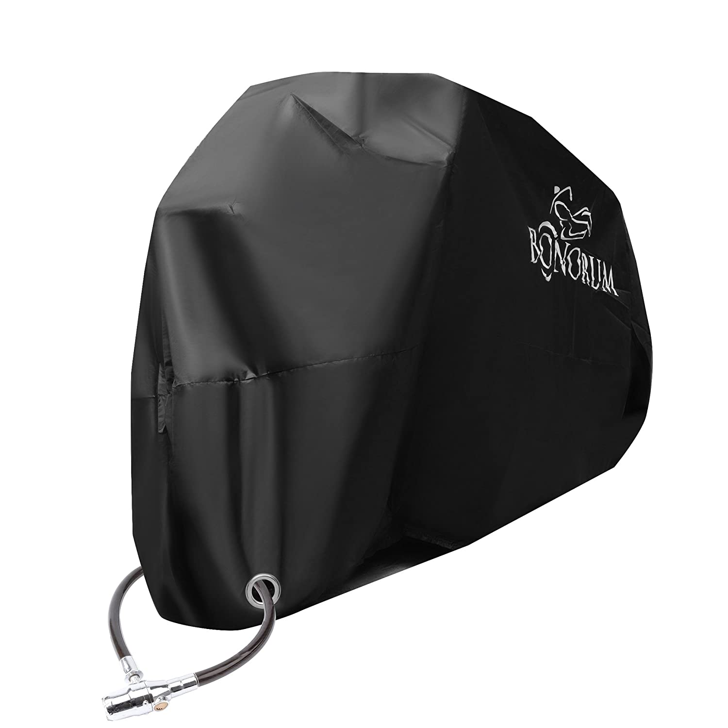 Premium Motorbike Cover | BONORUM® tear-resistant 190T outdoor motorcycle cover | 2 lock-holes | perfect protection against rain, snow, sun or dust | (XXL) Mambo One GmbH