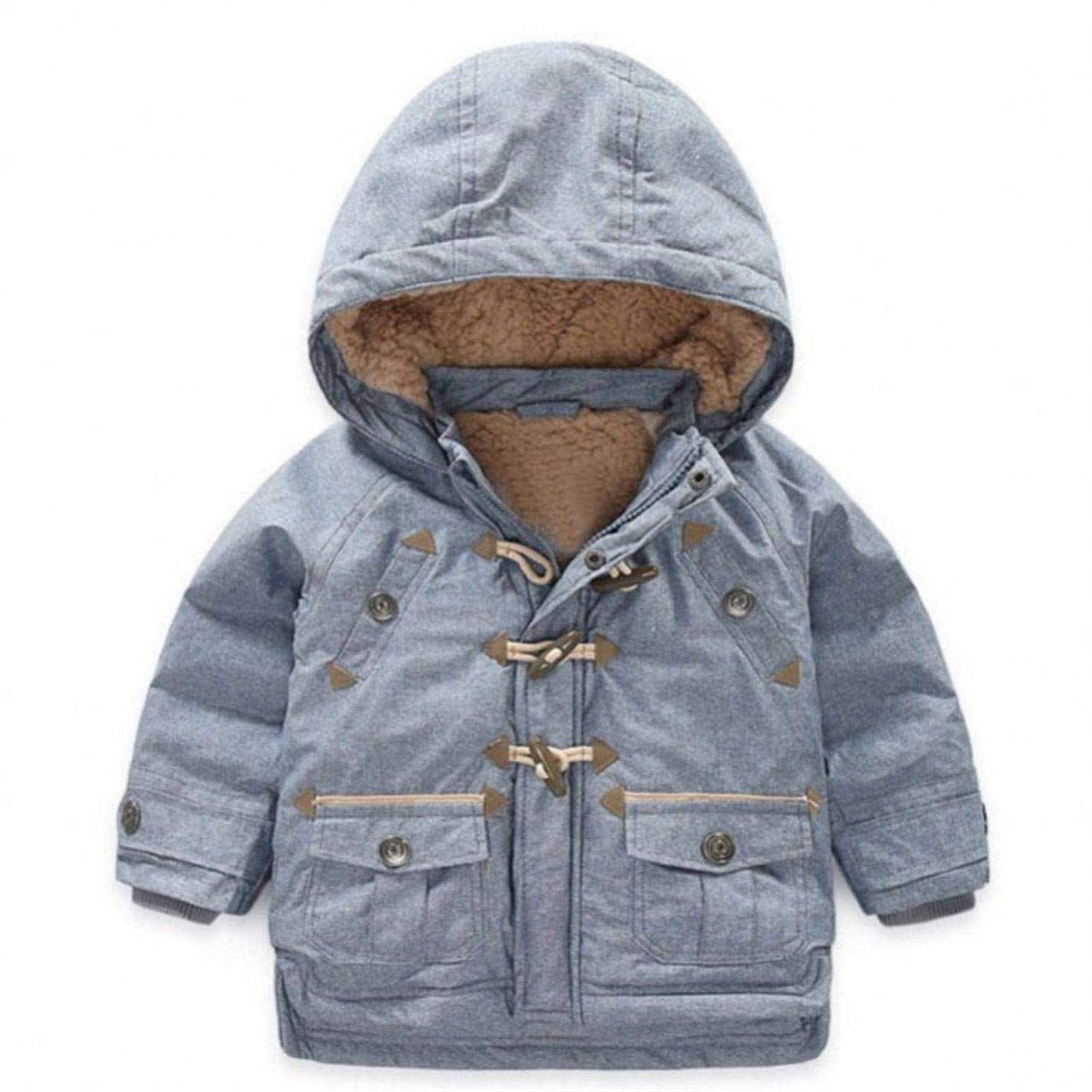 LzCxZDKN Boy Warm Horns Thickening Overcoat Autumn Baby Boy Jacket