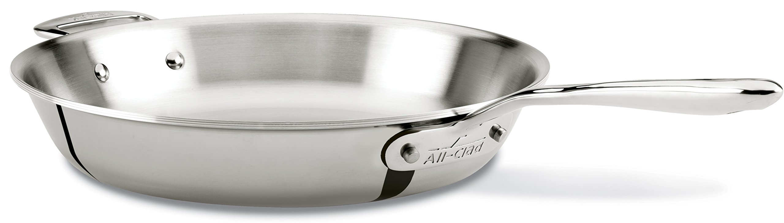 All-Clad SD75712 D7 18/10 Stainless Steel 7-Ply Bonded Construction Dishwasher Safe Oven Safe Skillet Fry Pan, 12-Inch, Silver