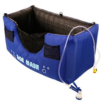 Maze Pets Portable And Inflatable Dog Bathing Station