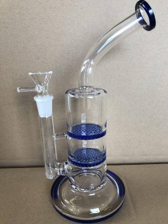 Tubo di vetro di fumo del percento del favo di due strati del tubo di acqua di vetro del bong di vetro Blu
