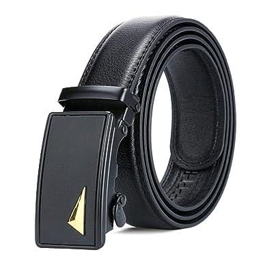 ROMQUEEN Cinturón de Cuero para Hombre Cinturones con Letras ...