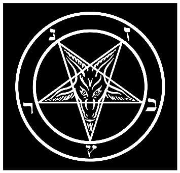 New Black Sticker Goat Of Mendes Pentagram Satan Satanic Baphomet