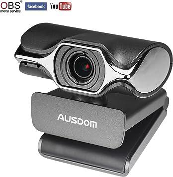 AUSDOM Webcam Streaming 1080P, Cámara Web Professional para PC ...