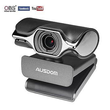 AUSDOM Webcam Streaming 1080P, Cámara Web Professional para PC, Portátil con micrófono y trípode