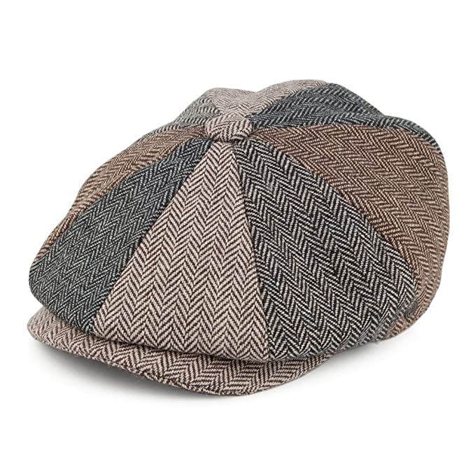 fe6f38c32 Jaxon & James Herringbone Patch Newsboy Cap - Multi-Coloured