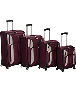 4c4c32db9 Amazon.com | Rockland Luggage Rome Polycarbonate 3 Piece Luggage Set ...