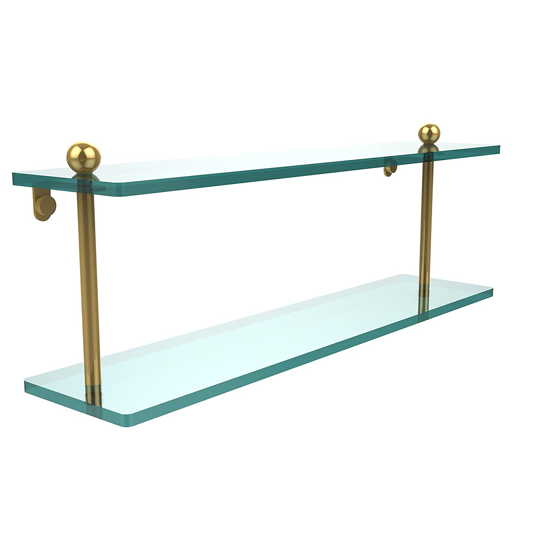 Allied Brass PR-2//16-ORB 16 Inch Two Tiered Glass Shelf Oil Rubbed Bronze