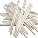 """100 89mm (3.5"""") White Plastic Lollipop Sticks for Cake Pops and Lollies"""
