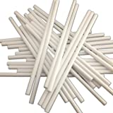 """100 150mm (6"""") White Plastic Lollipop Sticks - Packed by the CandyRushTM Charity - Hollow stick for Crafts Cake Pops Lollipops"""