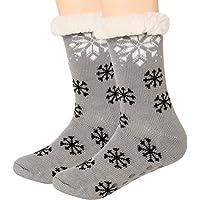 Slipper Socks Women Fleece Non Slip Knit Crew leg Warmer Thermal Winter