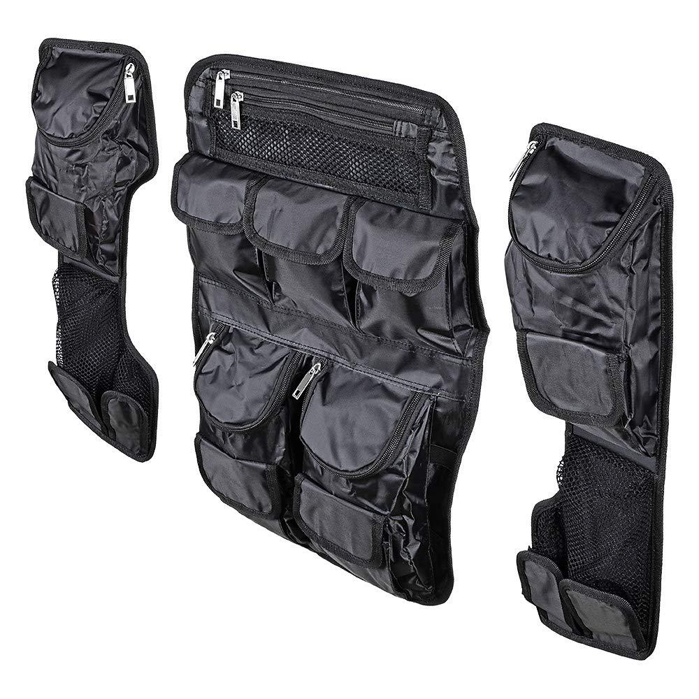 Saddlebag Tour Pak Pack Lid Organizer Set Compatible with Harley Ultra Classic King/Chopped FLT FLHT-Style