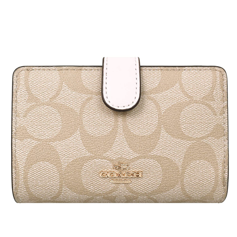 [コーチ] COACH 財布 (二つ折り財布) F23553 シグネチャー 二つ折り財布 レディース [アウトレット品] [並行輸入品] B079HX5KB1  ライトカーキ/チョーク