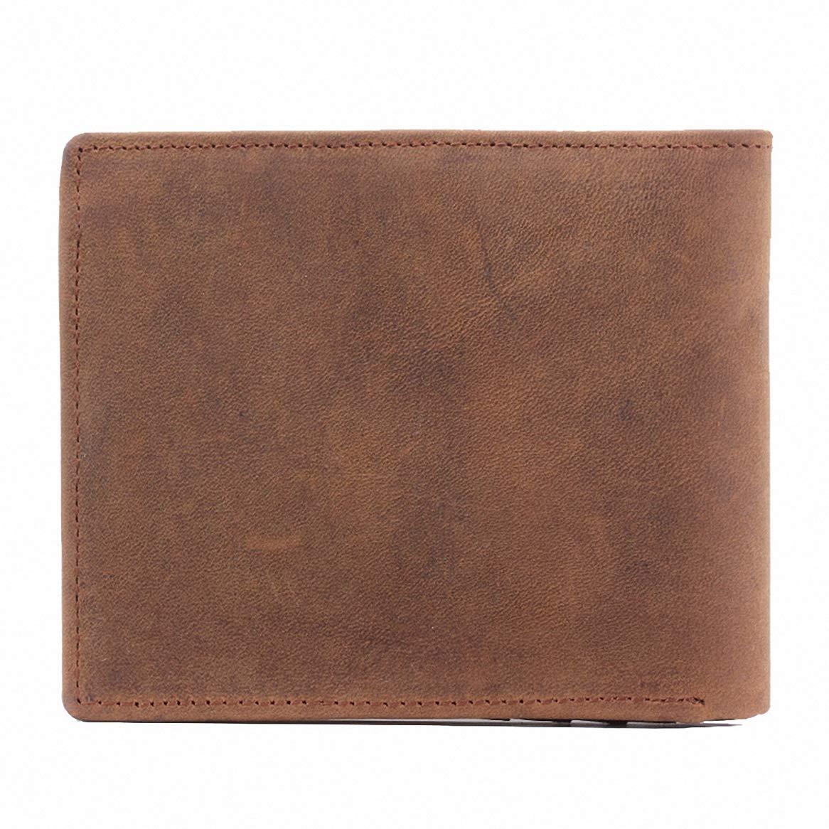 Mens Short Wallets Card Slot Folding Fashion Money Clip Brown