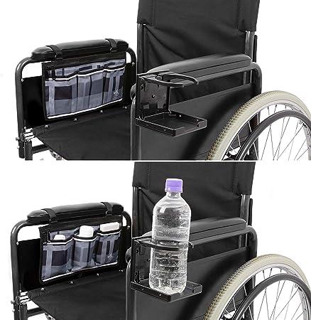 Amazon.com: Bolsa lateral para silla de ruedas con soporte ...
