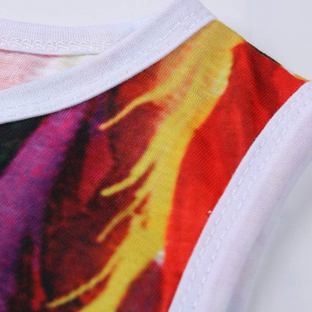 para Mujeres Vestido Corto Corto con Estampado de Plumas para Mujer Fiesta de Verano sin Mangas para Mujer MOMOXI Vestido de Verano para Mujer