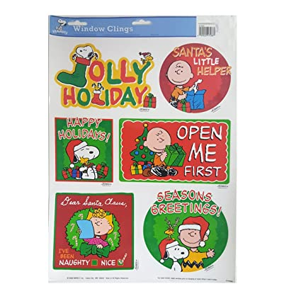 impact plastics peanuts peanuts christmas quotes window clings 51203w - Peanuts Christmas Quotes