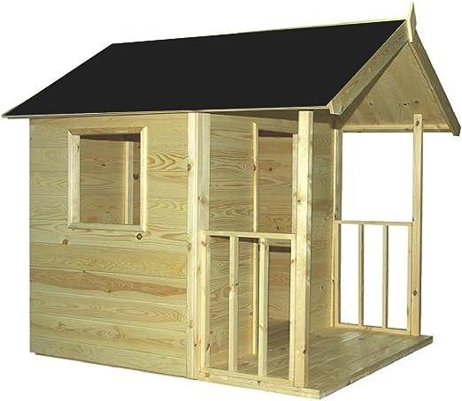 Cadema - Casa de jardín para niños, de madera, 1,2 x 1,8 m: Amazon.es: Jardín