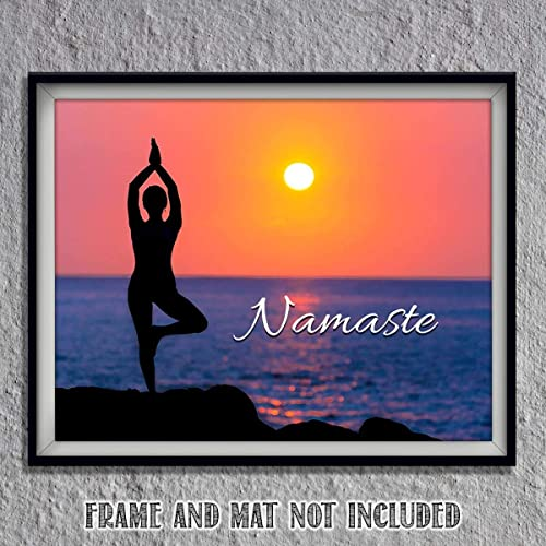 Amazon.com: Namaste Sunset for Yoga Lovers- 8 x 10 Print ...