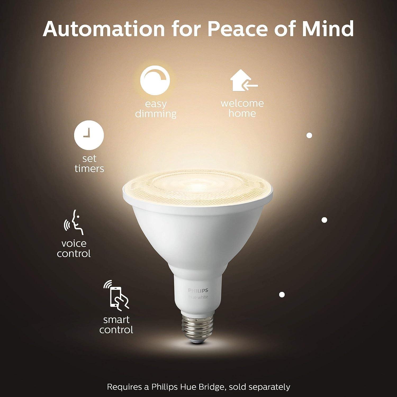 New 476812 Philips Outdoor Hue White PAR-38 Smart LED Bulb Renewed White