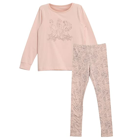WHEAT Princess Cinderella Disney, Ensemble de Pyjama Fille, (Powder 2400), 128 cm
