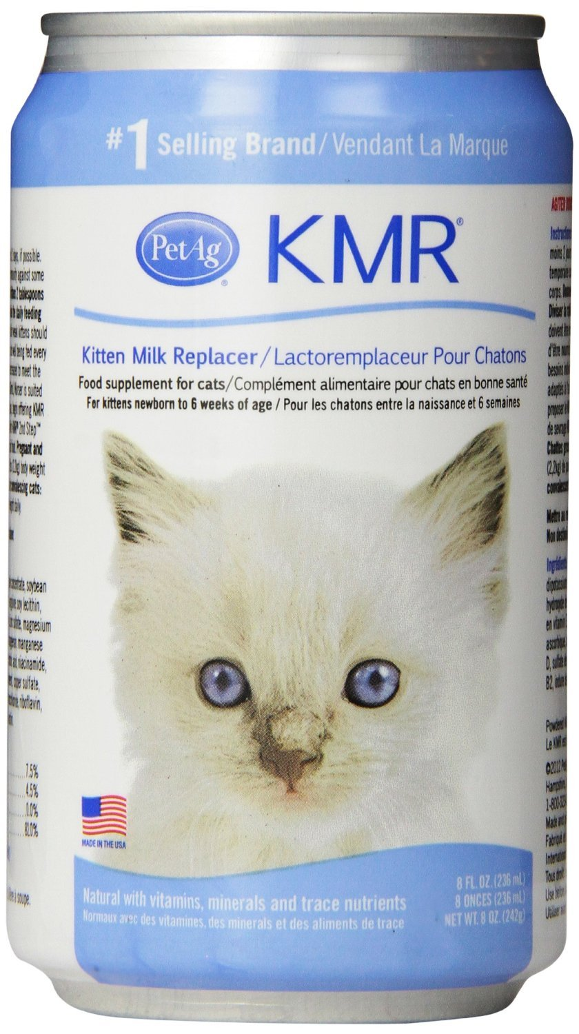 KMR Liquid Milk Replacer for Kittens & Cats (8oz Cans, Case of 18 w/Gels)