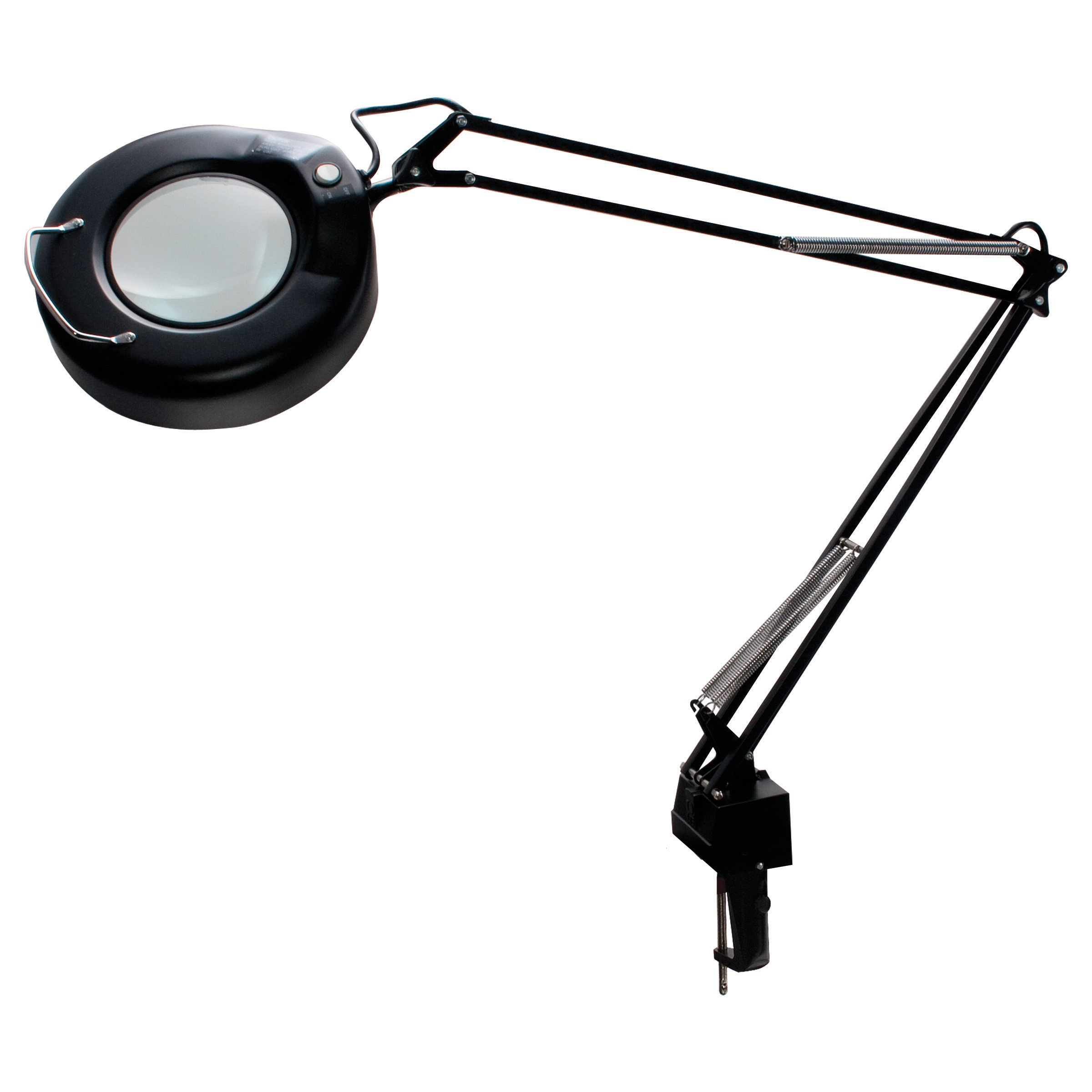 LEDU L745BK Economy Magnifier Lamp, 38-1/2'' Arm Reach, Black by Ledu