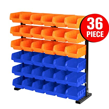 HORUSDY 36   Parts Bin Storage / Wall Mounted Tools Storage Solution Rack  Nuts Bolts Organiser