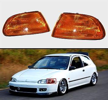 New Left Corner Turn Signal Light Fits 1992-1995 Honda Civic Sedan Driver Side