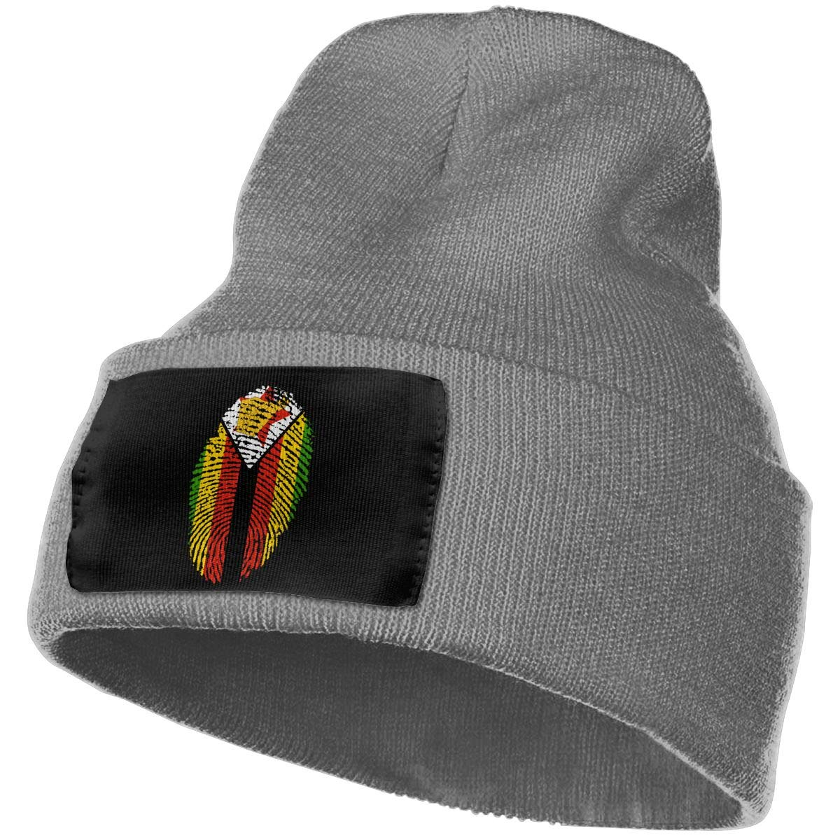 SLADDD1 Zimbabwe Warm Winter Hat Knit Beanie Skull Cap Cuff Beanie Hat Winter Hats for Men /& Women