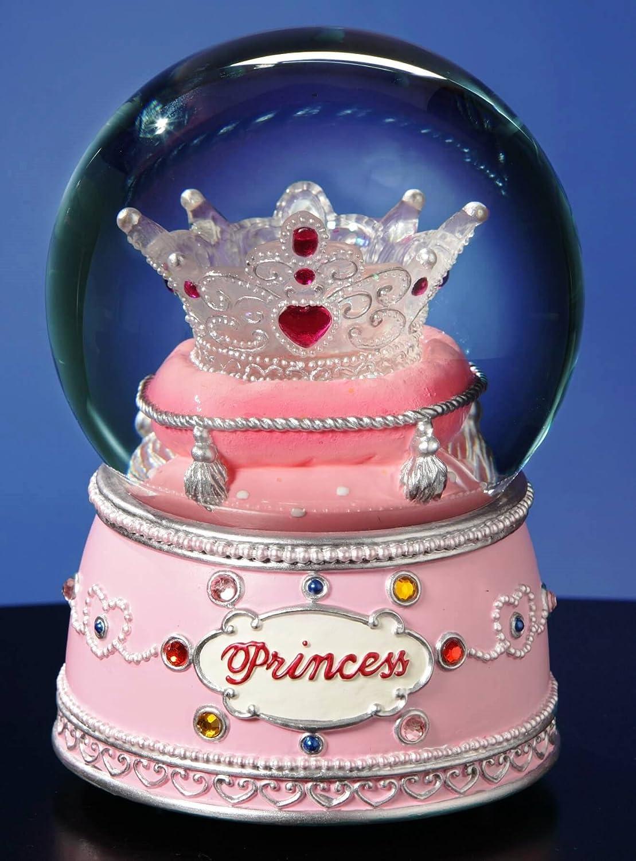 Princess Crown Water Globe by San Francisco Music Box