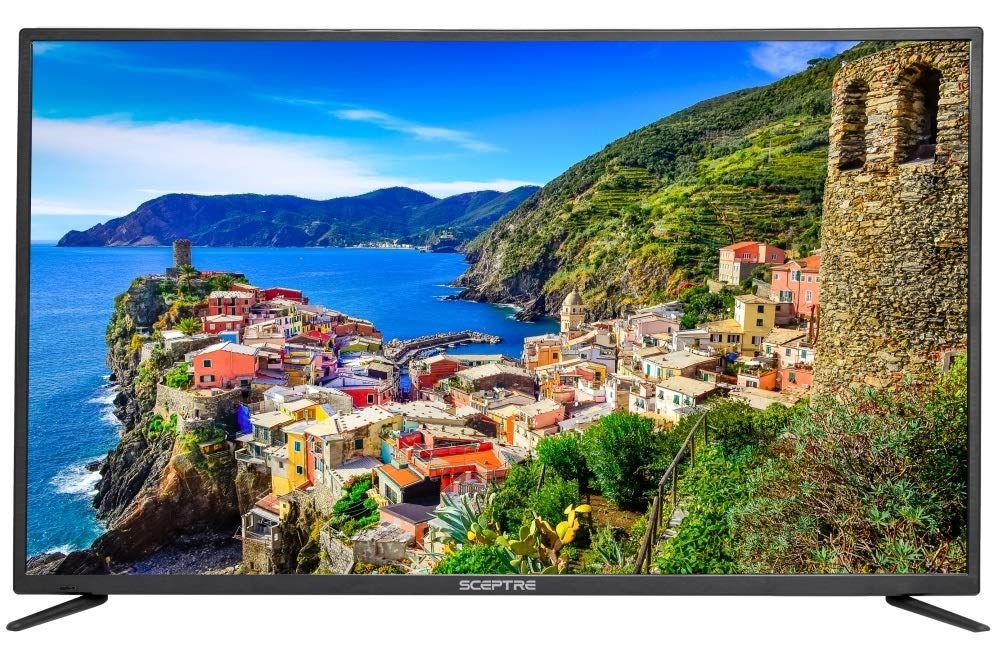 Sceptre 50-Inch Class 4K Ultra HDTV U50 Series 3840x2160 MEMC 120 HDMI 2.0 HDCP 2.2 MHL UHD Upscaling, Just Black 2018 by Sceptre