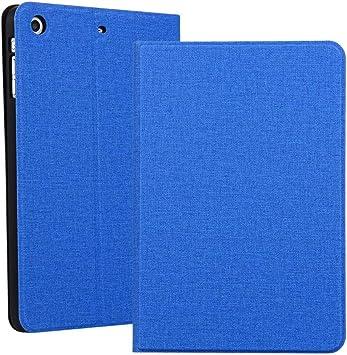 MINGFENG for iPad Mini 1 / Mini 2 / Mini 3 Textura de Tela Estuche de Cuero sólido Abierto a Izquierda y Derecha horizontales con Soporte para cinturón de Dormir (Color : Blue): Amazon.es: Electrónica