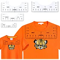 Juome 4 Pcs T Shirt rulers to Center Designs, Tshirt Ruler Guide for Vinyl Placement, Transparent PVC T-Shirt Alignment…