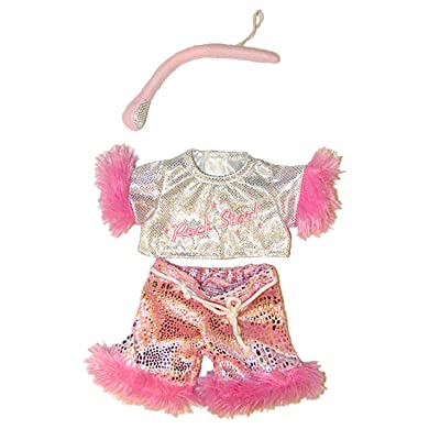 "Girl Rock Star Outfit with Microphone Fits Most 8""-10"" Webkinz, Shining Star and 8""-10"" Make Your Own Stuffed Animals and Build-A-Bear: Toys & Games"
