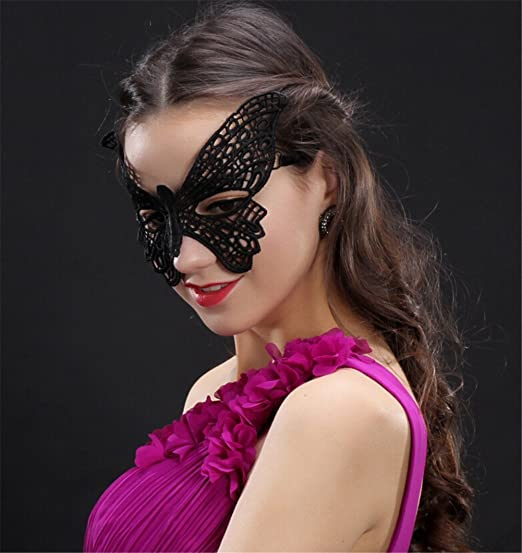 Women/'s Forest Nymph Eye Mask Fabric Leaves Jewels Fancy Dress Masquerade Ball