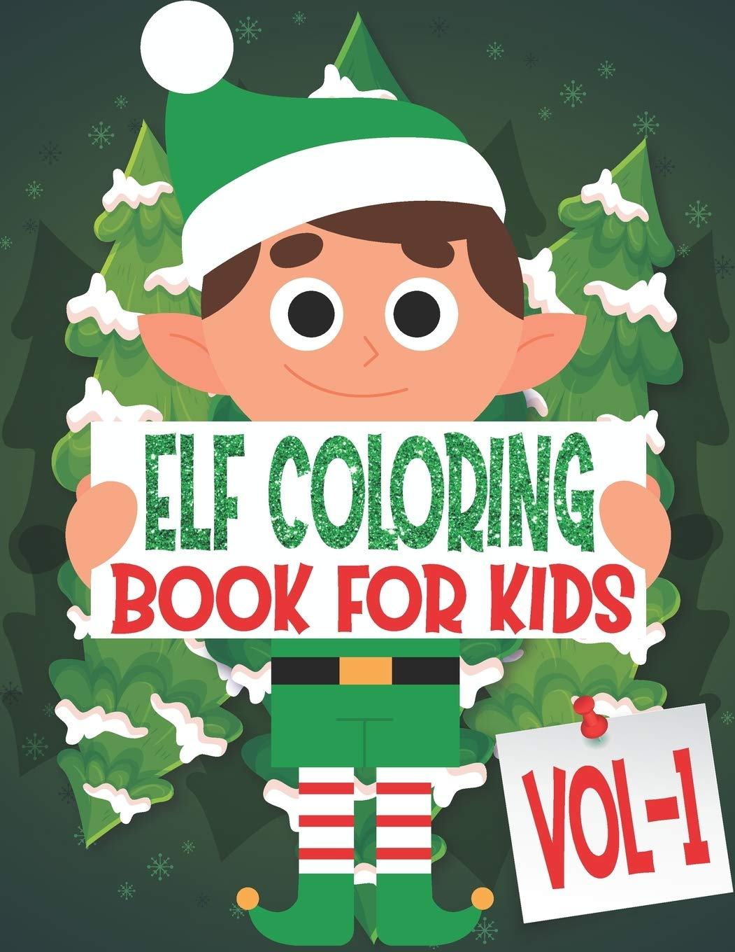 elf coloring book for kids volume 1 85 pages one side christmas elf coloring pages for kids toddler children perfect for kids age 4 18 years old pages to color in santa elf coloring book for kids volume 1