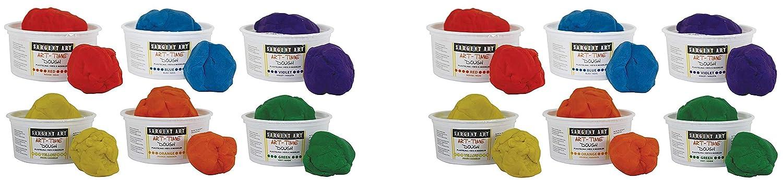 Sargent Art 85-3198 Art-Time Dough Set of 6 2 X Set of 6 Multicolored